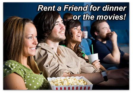 rent a friend slider